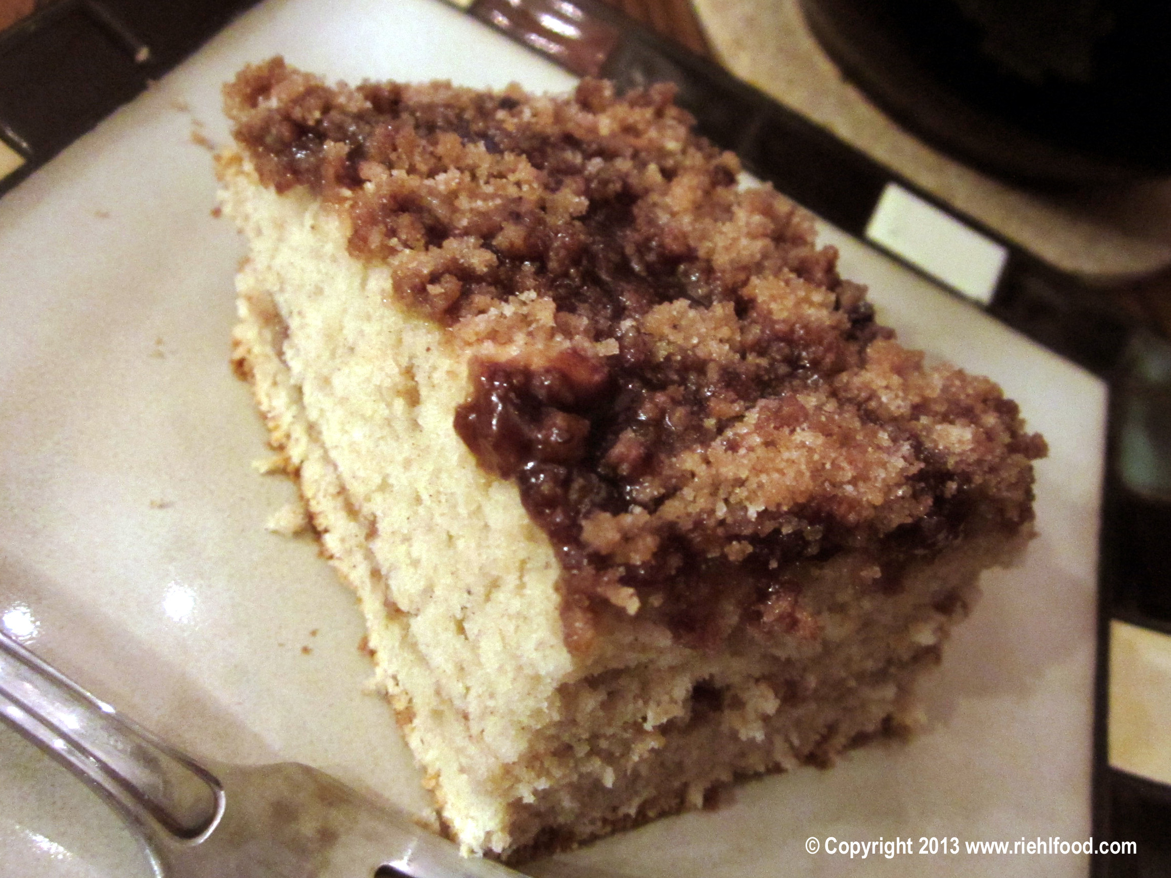 Coffee Cake with Mocha Glaze