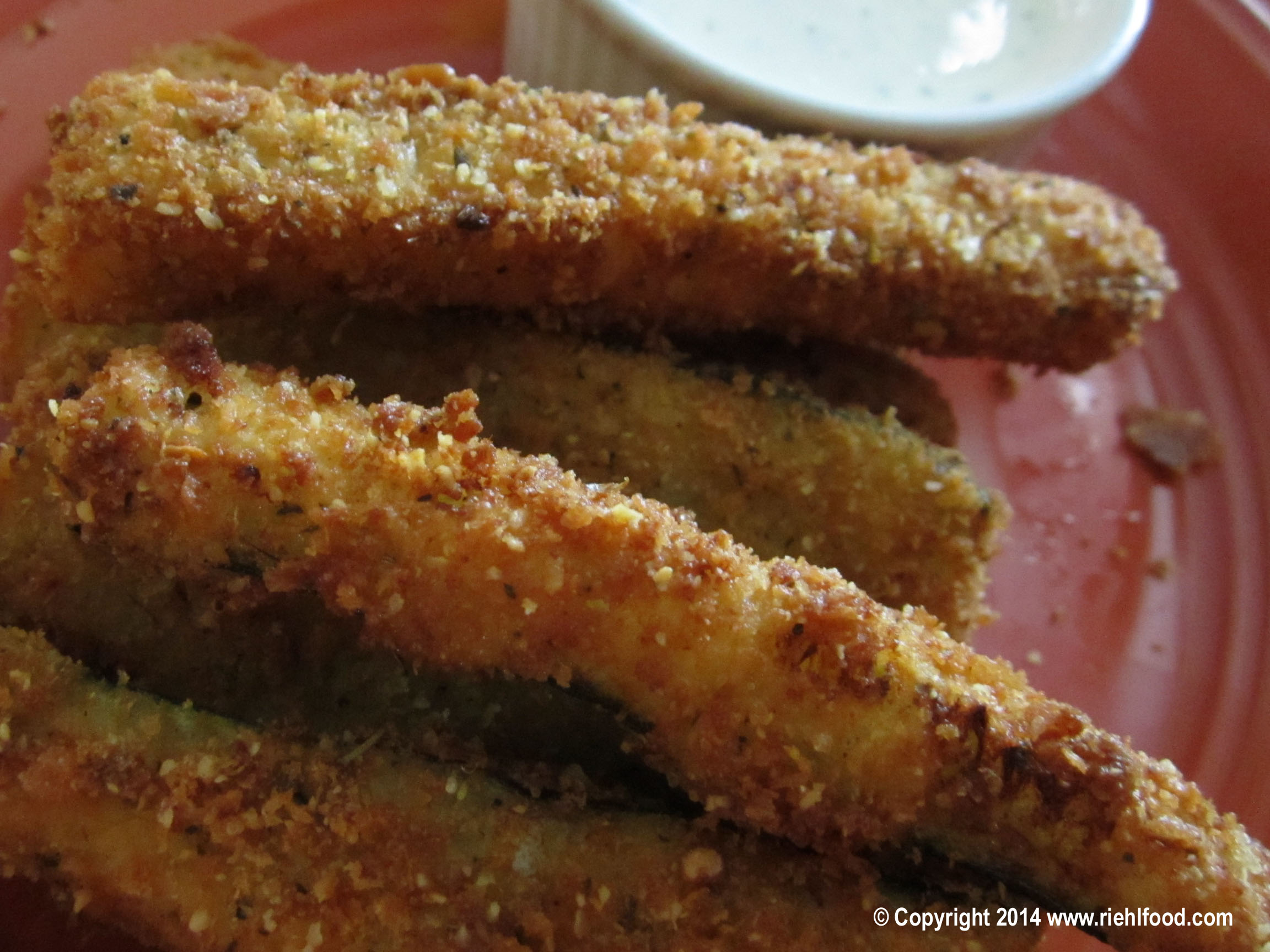 Panko Parmesan Crusted Zuchinni