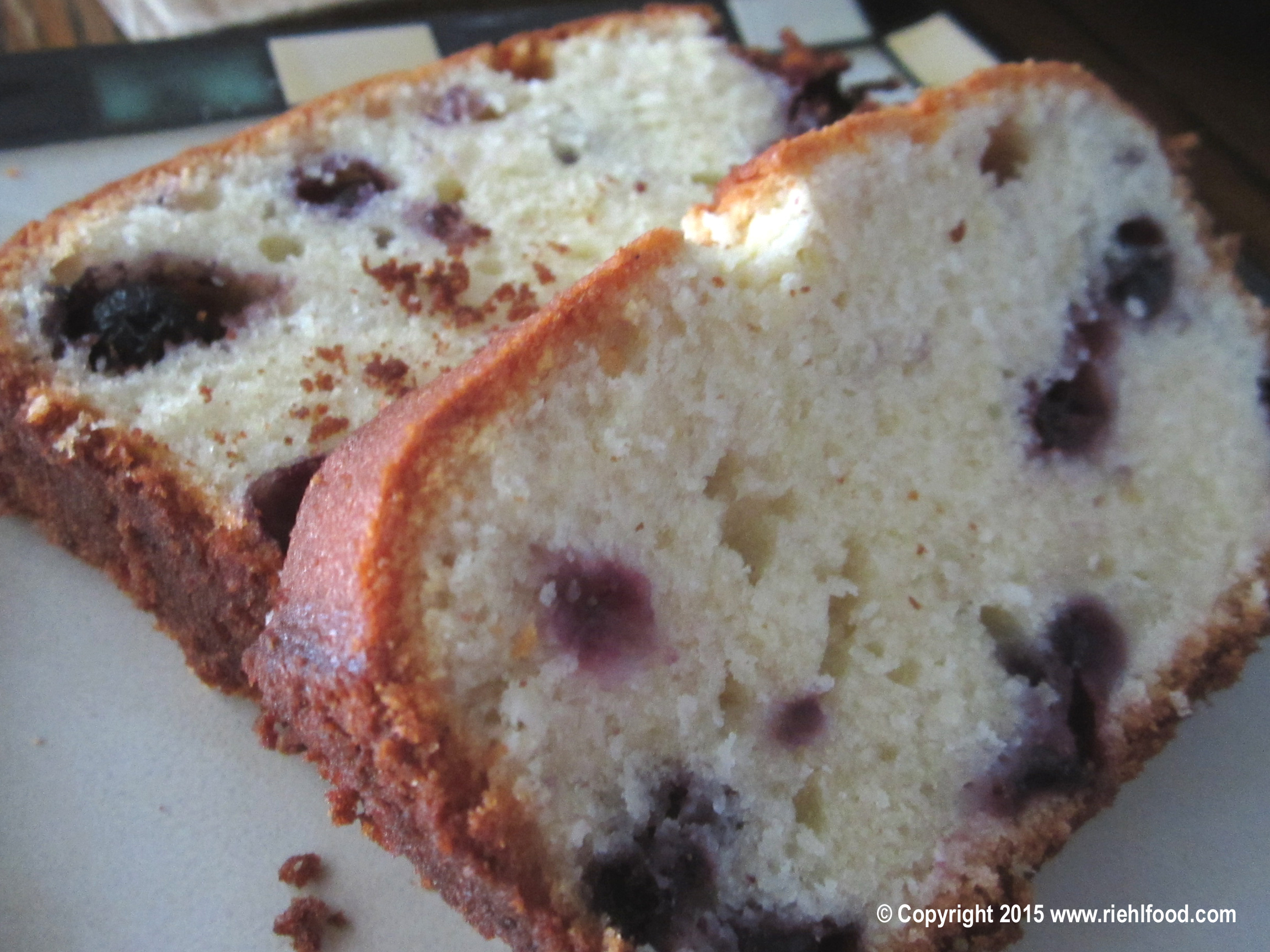 Vanilla Blueberry Loaf