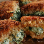 Cheesy Spinach Stuffed Pork Chops